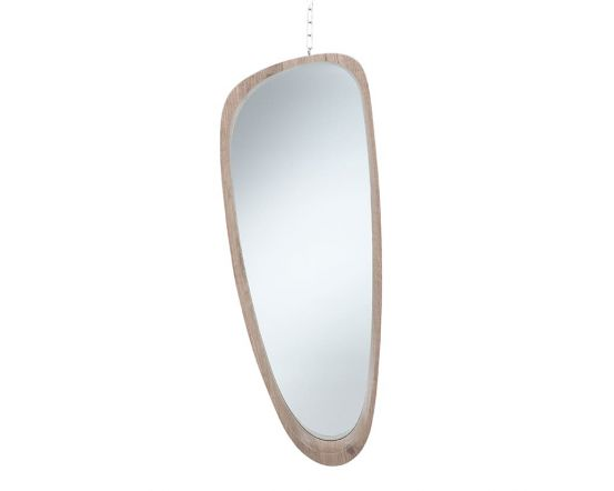 Bryony Natural Wood Veneer Teardrop Wall Mirror