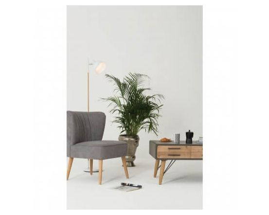 Byran Scandinavian White Wood Floor Lamp