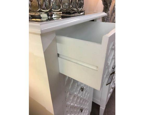 Costa White Console Table