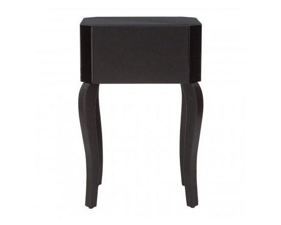 Cattleya Black Glass Side Table
