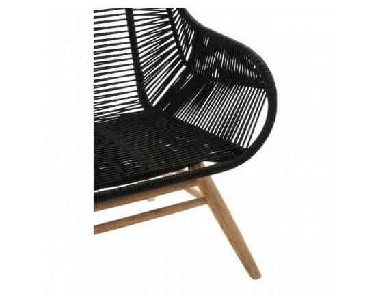 Cecil Relaxer Armchair with Black Rope