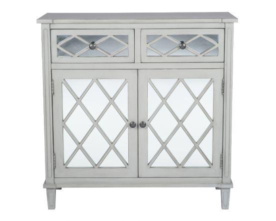 Clara Grey Mirrored Sideboard