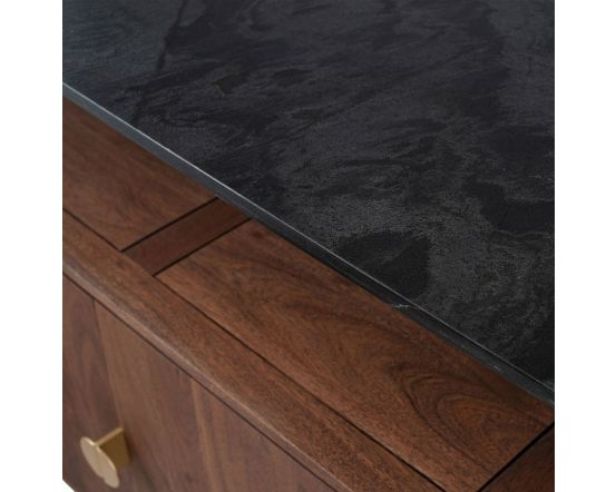 Claude Acacia and Black Marble Sideboard
