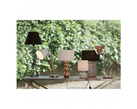 Copper Orbs Touch Table Lamp
