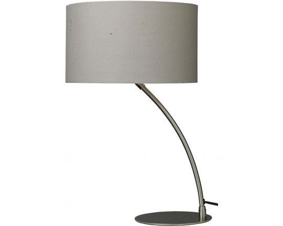 Cristina Curved Chrome Table Lamp