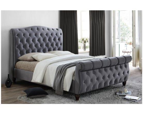Denver Grey King Size Bed Frame