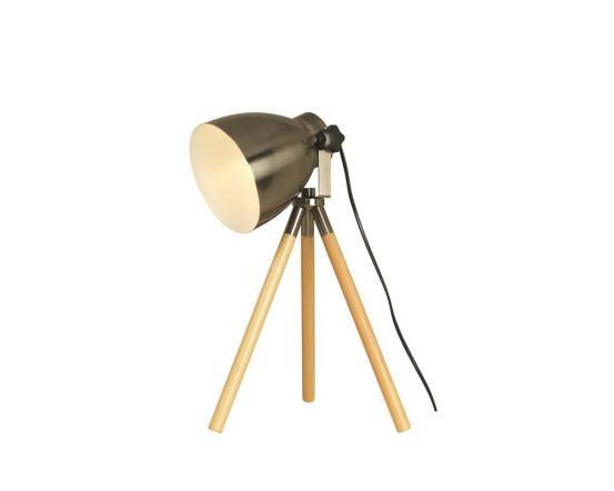 Directors Table Lamp in Gun Metal