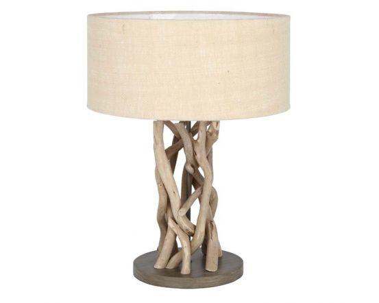 Driftwood Jute Table Lamp