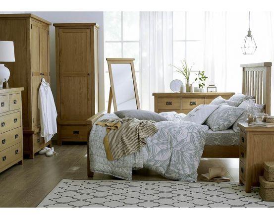 Eden Oak 3 Drawer Bedside Cabinet