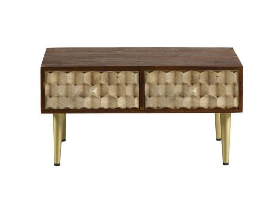 Edison Coffee Table With 2 Drawers