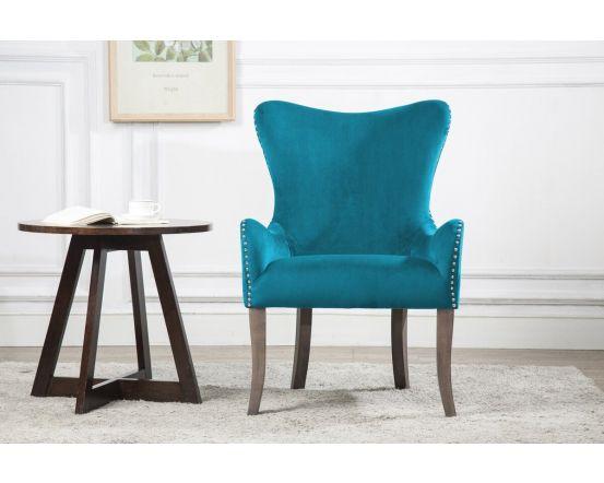 Ellie Fabric Chair in Green, Grey or Blue