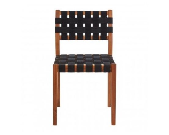 Emily Black Woven Dining Chair