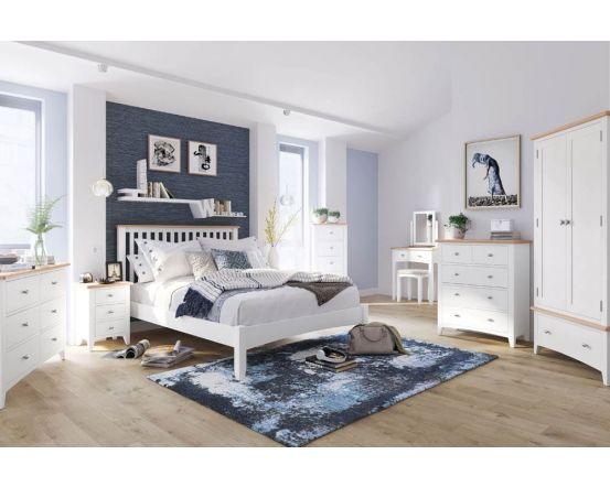 Gaetan Oak 3 Drawer Bedside Cabinet