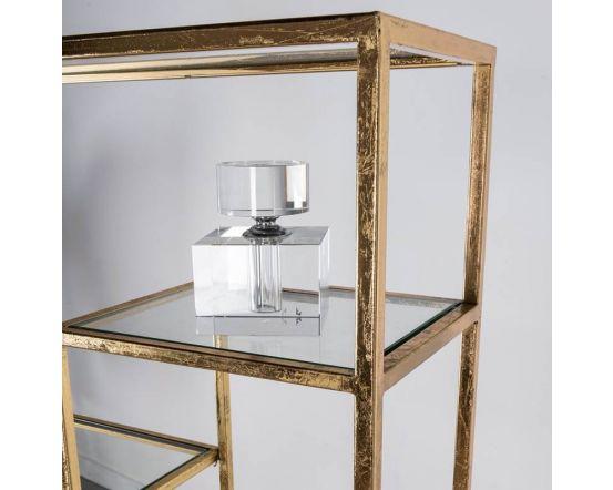 Gin Shu Gold 7 Shelf Metal Display Unit