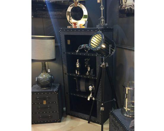 Grey Industrial Fabric Bookcase