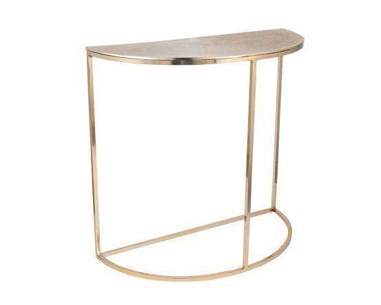 Greta Gold Metal Half Moon Console Table