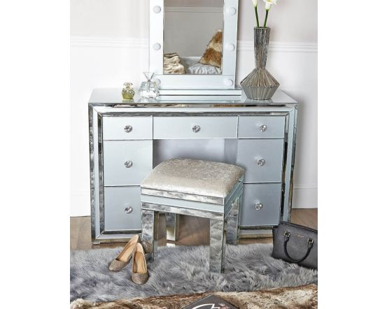 Grey Tinted Glass Dressing Table