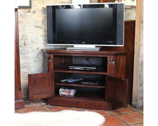 Hand Crafted Corner Television Cabinet