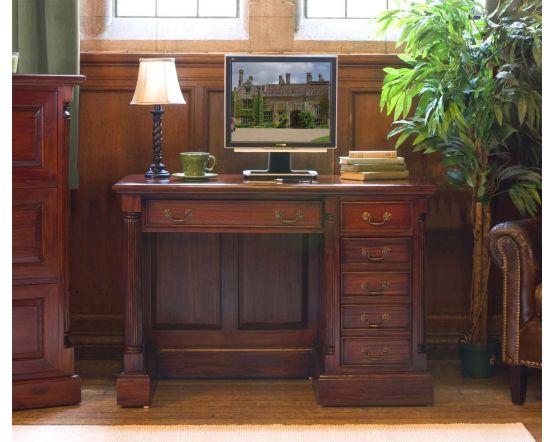Hand Crafted Single Pedestal Computer Desk