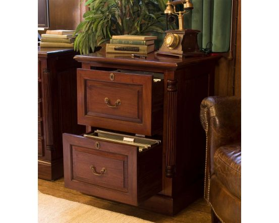 Hand Crafted Two Drawer Filing Cabinet