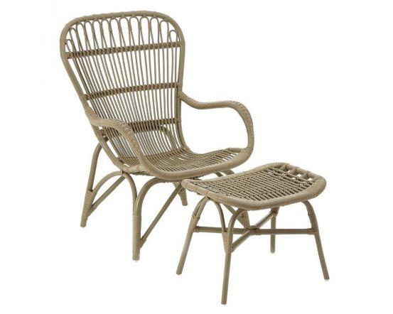 Hannah Rattan Relaxer Armchair With Stool