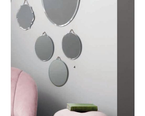 Helen Set of 3 Glass Oval Wall Mirrors