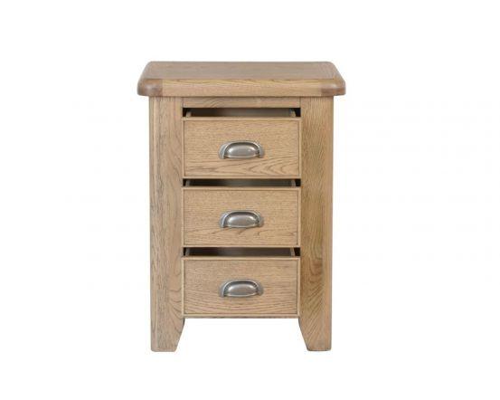 Hodson 3 Drawer Bedside Cabinet