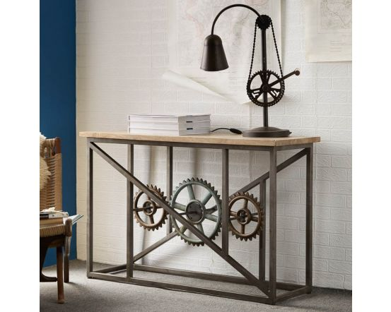 Industrial Eco Friendly Console Table with Wheels