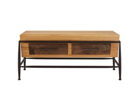 Industrial New Edition 2 Drawer Coffee Table