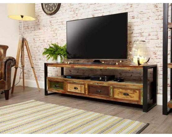 Industrial Reclaimed Wide TV Cabinet