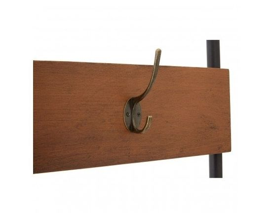 Industrial Foundry Bench and Coat Rack