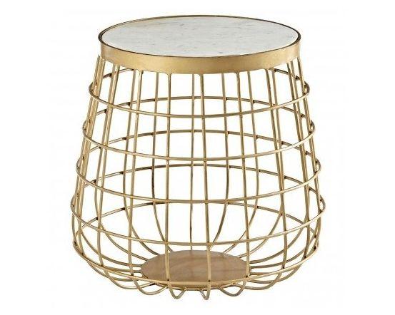 Kanpur Brass Basket Side Table