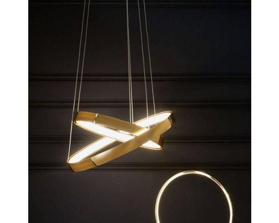 Langston Retro Gold LED Pendant