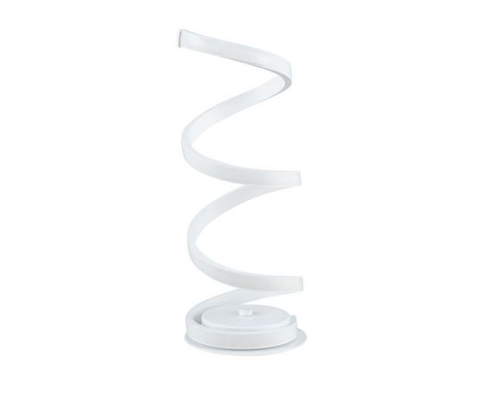 Langston LED White Spiral Table Lamp