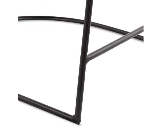 Majken Wood and Black Bar Stool