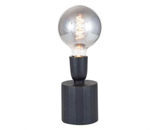 Metal Matt Black Bulb Holder Table Lamp