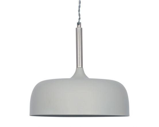 Minimalist Matt Grey Domed Metal Pendant