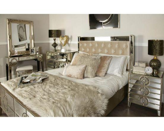 Mirrored Antique Gatsby 3 Drawer Cabinet