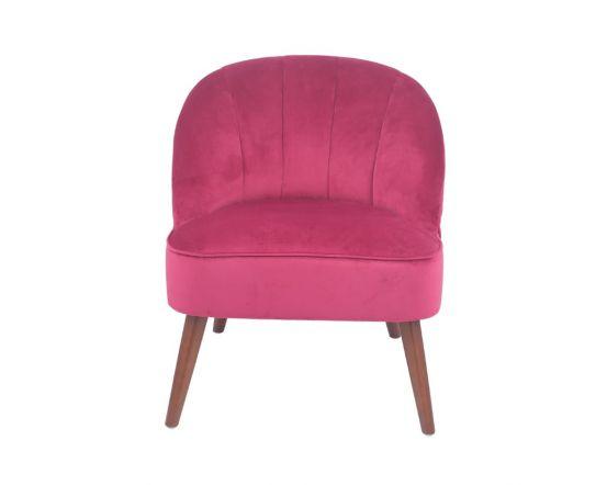 Mizo Raspberry Velvet Bijou Chair