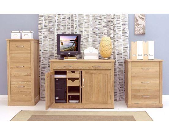 Modern Light Oak Hidden Home Office