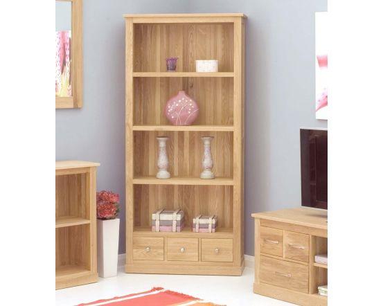 Modern Light Oak Large 3 Drawer Bookcase