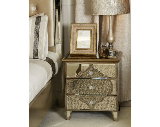 Morocco Mirrored 3 Drawer Chest Of Drawers