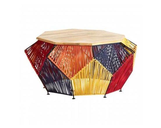 Multi Coloured Fabric Fusion Coffee Table