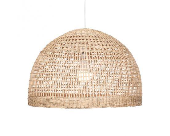 Natural Woven Seagrass Dome Pendant Shade