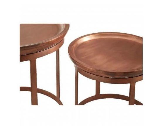 Nest Copper Finished Set of 2 Tables
