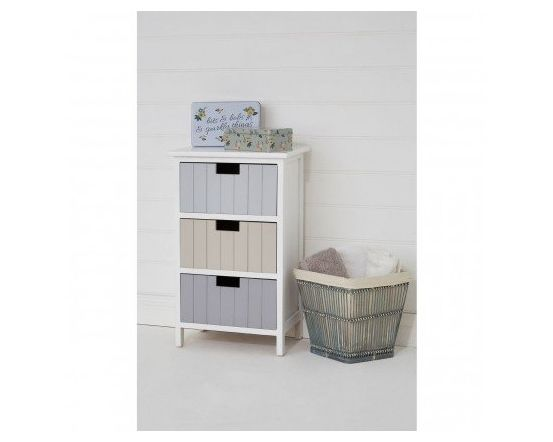 New England 3 Drawer Chest