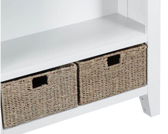 Newholme White Bookcase