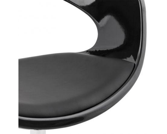 Nichole Black Bowl Open Back Office Chair