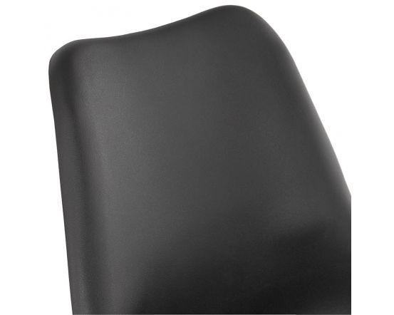 Niklas Black PU Leather and Gold Metal Designer Chair