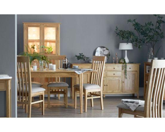 Noah Oak Butterfly Extending Dining Table